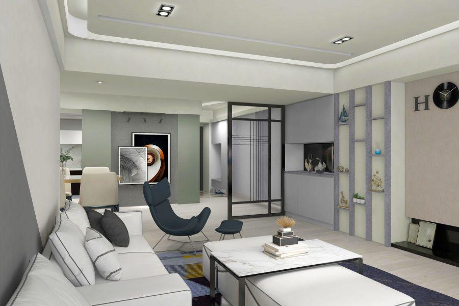 現代風格強烈的系統家具設計